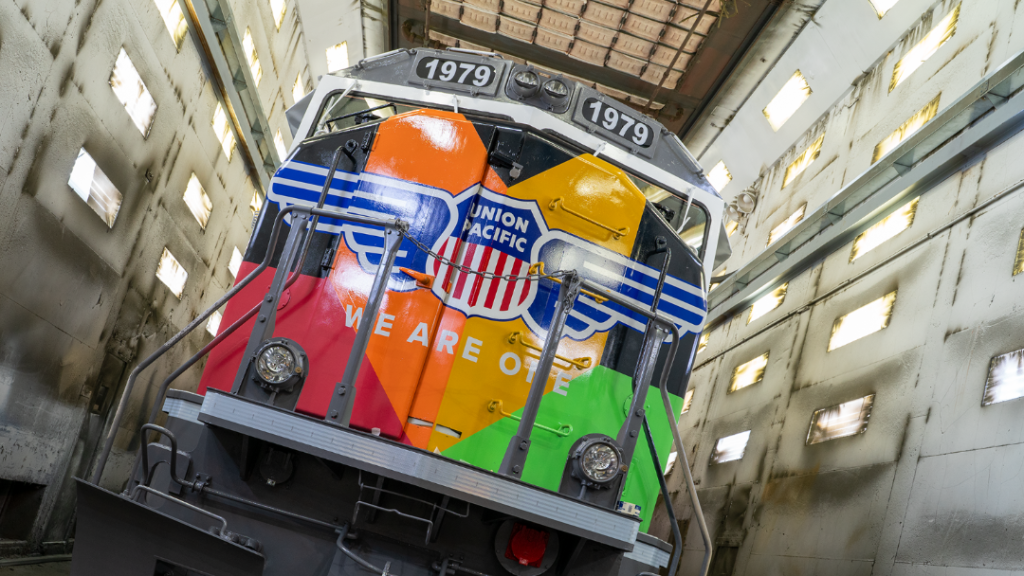 The Inside Track on UP's We Are ONE Locomotive Pulling into Omaha September 1st